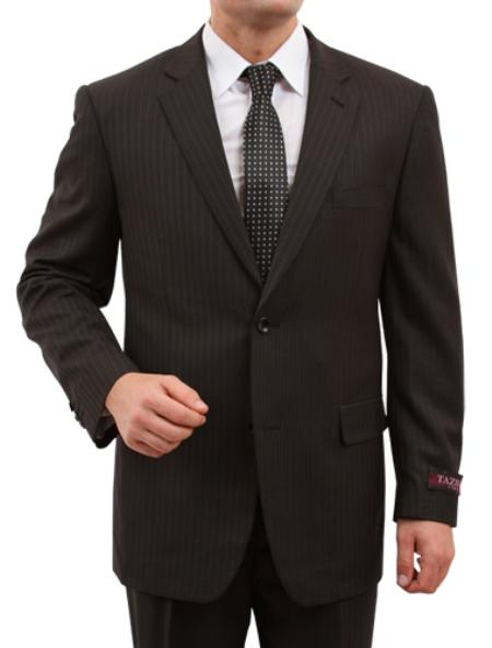 M150000 Solid Liquid Jet Black 2 Button Style Front Closure Suit