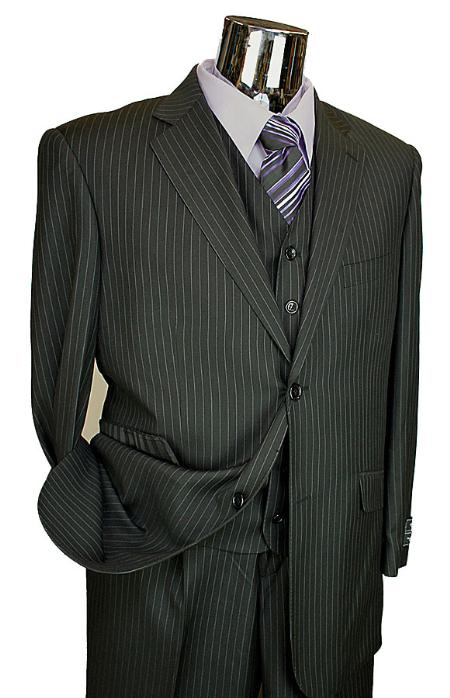 Liquid Jet Black Pinstripe