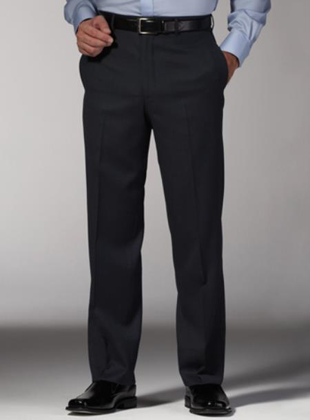 Product# PN96 Fitted No Pleat Slacks Dark Grey Slim narrow Style Fit Dress Pants