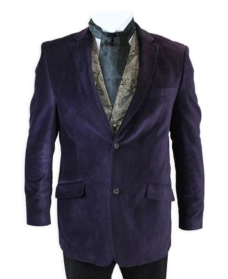Product# AC-229 Velvet Smoking Jacket Very Dark Purple color shade