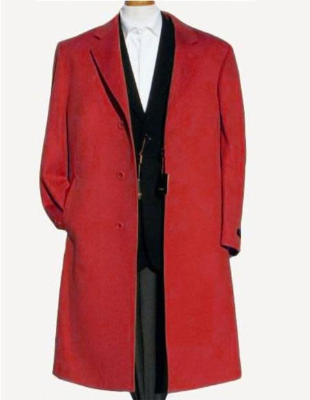 Product# JSM-6210 Men's Alberto Nardoni Best Mens Italian Suits Brands Dark Red Soft Finest Grade Of Cashmere & Wool Overcoat ~ Topcoat Pre order limited Edition To Ship Jan/1/2020