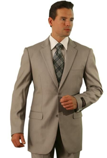 Product# DX9978 Poly/Rayon Dark Tan khaki Color ~ Beige Classic affordable suit Online Sale