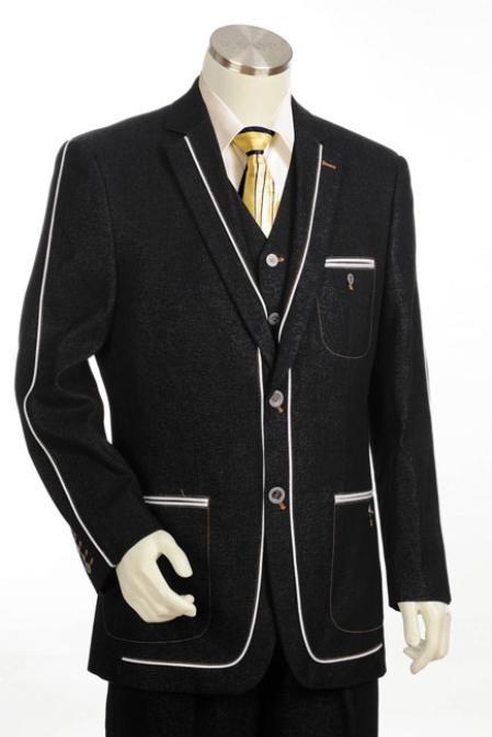 Button Style 3pc Fashion