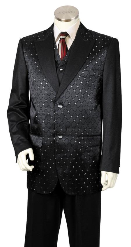 Mens Diamond Pattern 3pc