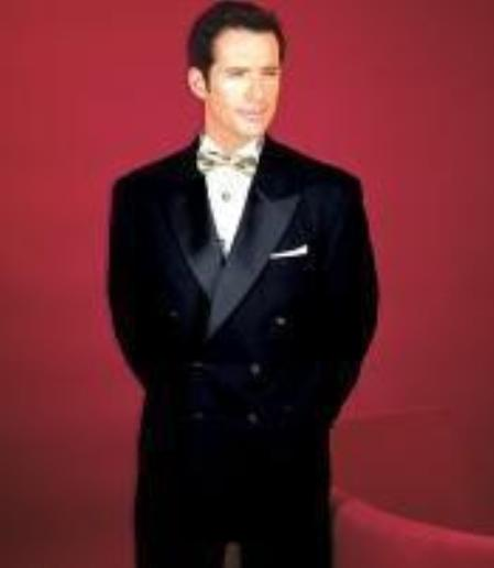 Superior Fabric 150's 100% Wool Fabric Solid Liquid Jet Black 1920s Style Double Breasted Tuxedo 6 on 2 Style tuxedo Suit