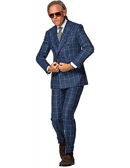 bc7fe581f35d4 Product  GD1094 Alberto Nardoni Best Mens Italian Suits Brands Plaid Double  Breasted Suit Wool Suit