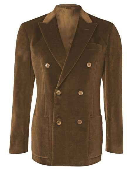 Mens 6 Buttons Brown