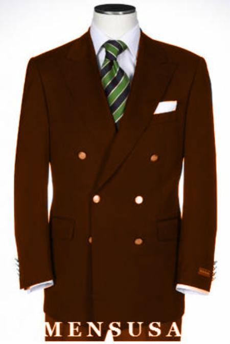 Double Breasted Blazer Online Sale With Best Cut & Fabric Sport brown color shade jacket