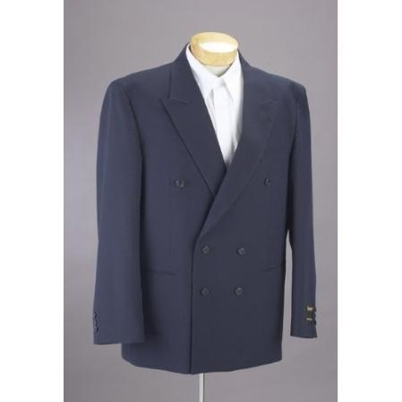 Product# NS402 New Double Breasted Navy Blue Shade Dress Suit