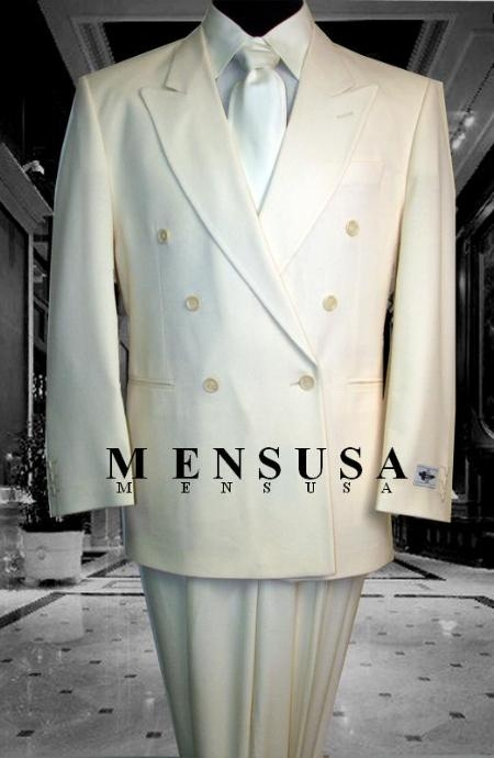 SHARP Double Breasted DRESS SUIT Off White