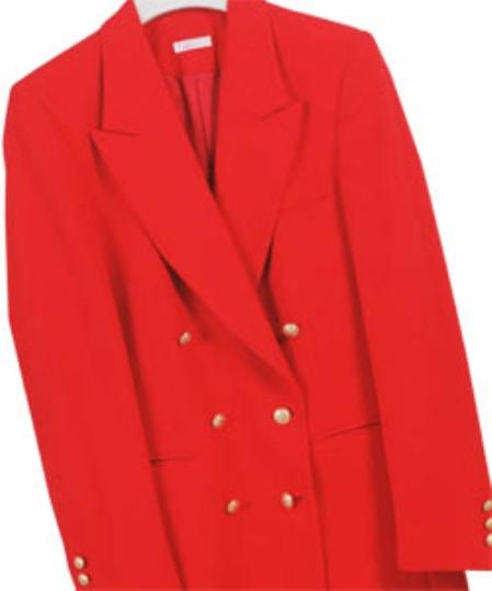 Product# LAN532 Z762TA red color shade , Six Button Double Breasted Performance Blazer Online Sale Jacket Coat