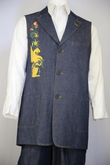 Mens Medieval Cloister Embroider