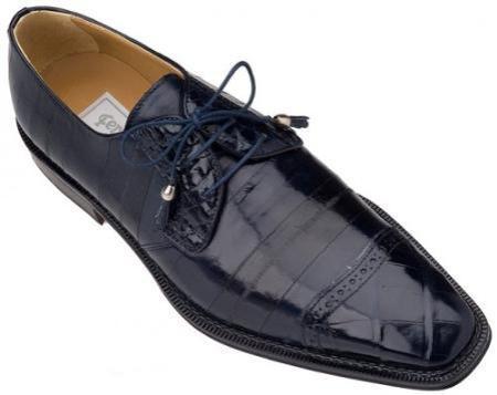 Product# KA4803 Ferrini Navy Genuine Alligator/Eel Shoes for Online