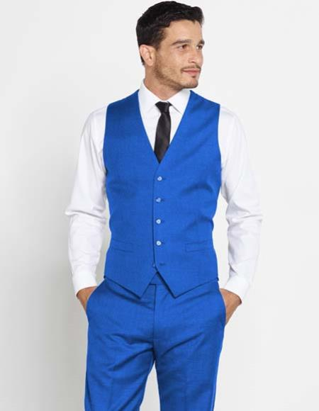 Mens Vest Matching Solid