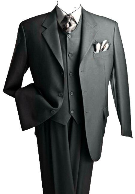 Five Buttons Charcoal Color Suit