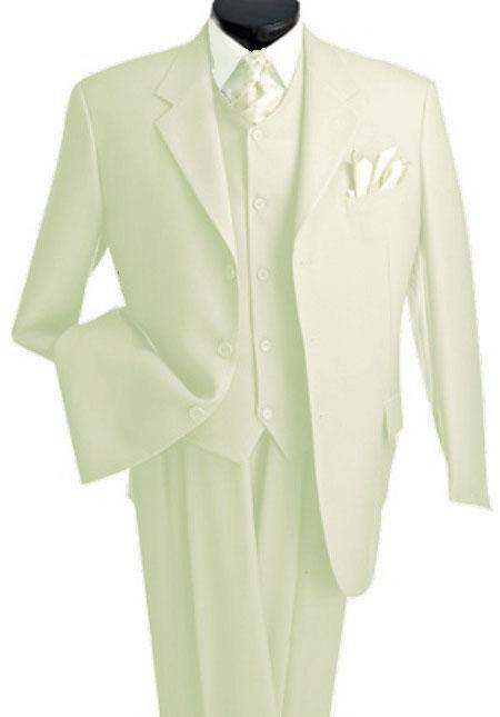 3 Piece Premium Fine Cream three piece suit