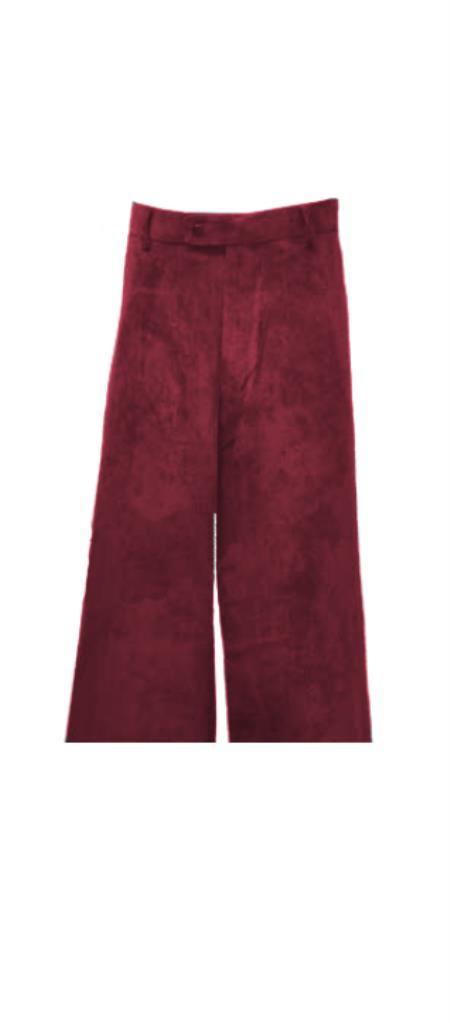 Corduroy Burgundy Pants Slacks
