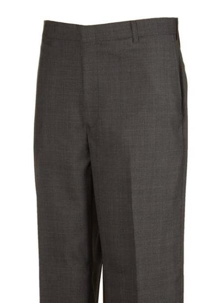 Product# JSM-4432 Plaid Flat Front Dress Pants