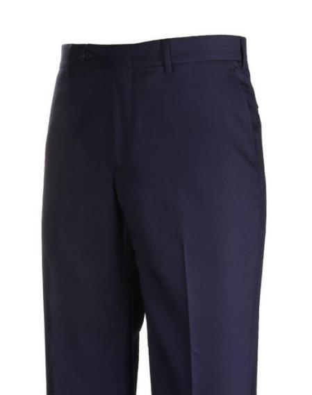 Product# JSM-4443  H-Tech Flat Front Navy Dress Pants