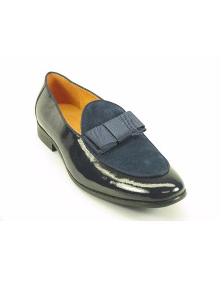 Mens Carrucci Navy/Black Slip