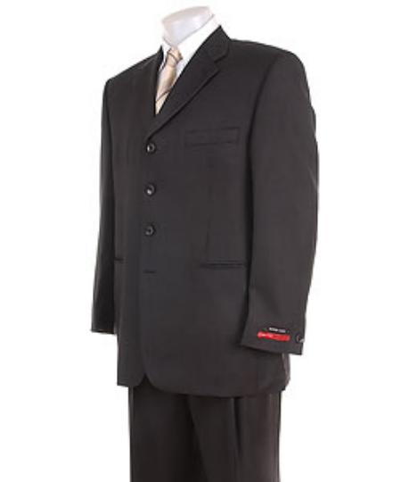 Solid Liquid Jet Black 4 Button Style Superior Fabric 120's Wool Fabric premier quality italian fabric Suit