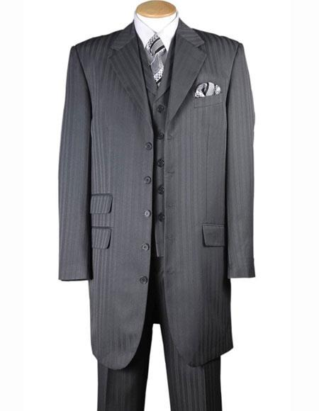Mens 4 Buttons Gray