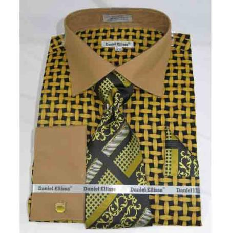 Mens Black Mustard French