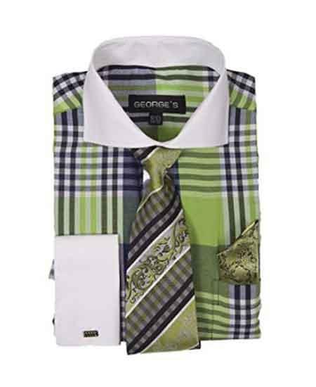 Mens Lime Two Toned