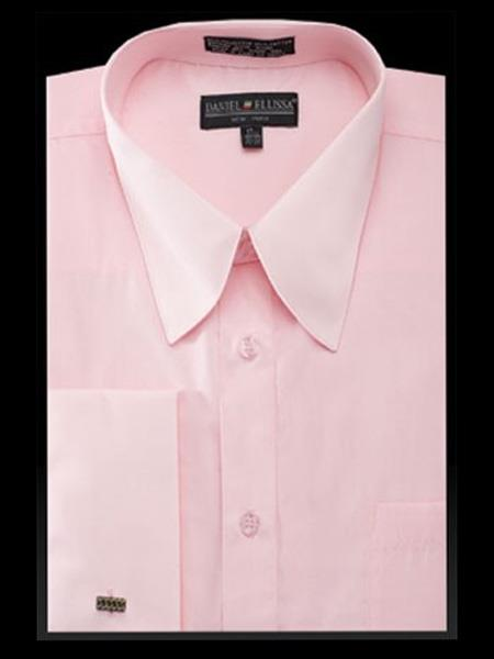 Mens Solid Pink Cotton