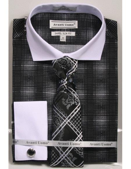 Mens Black woven design