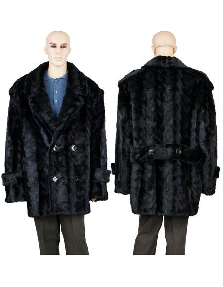 Mens Fur Black Mink