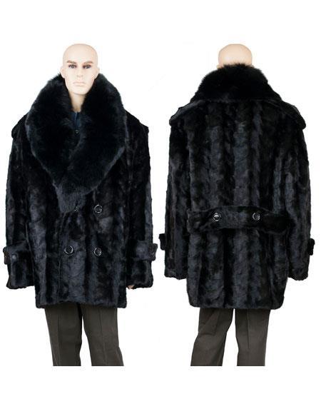 Mens Fur Black Mink