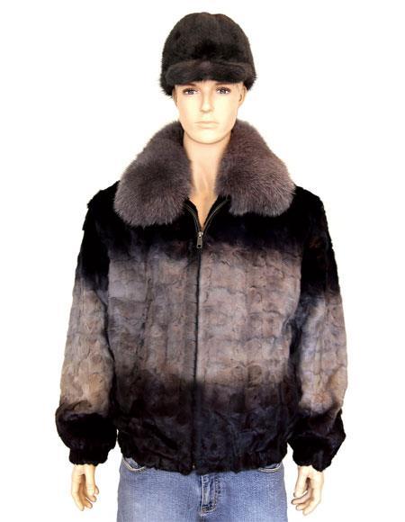Mens Handmade Fur Grey