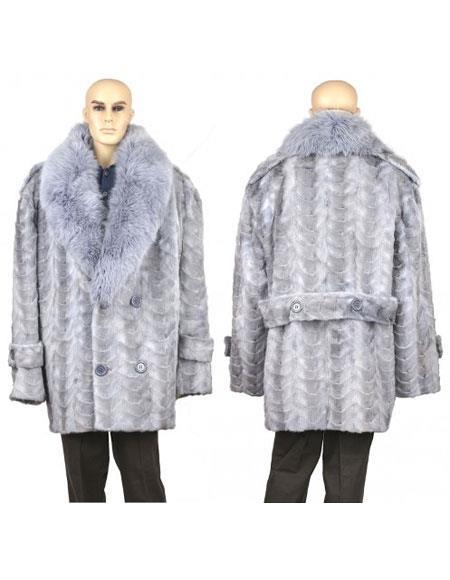 Mens Fur Sapphire Genuine