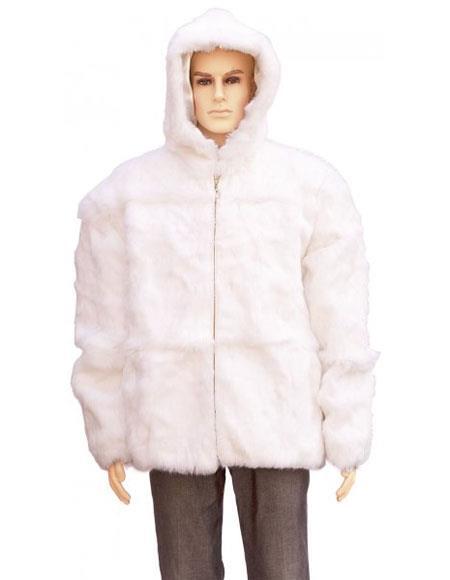 Mens Fur White Full