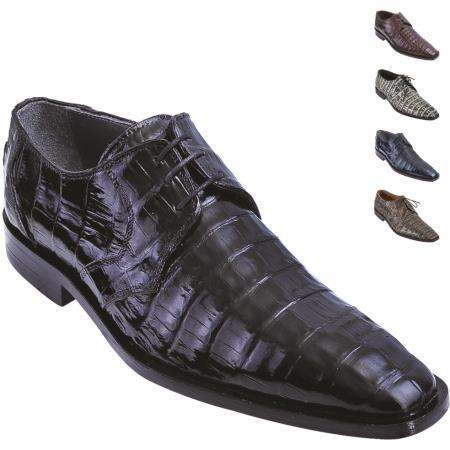 Product#4PF4 Full Alligator skin Belly Skin Shoe Liquid Jet Black