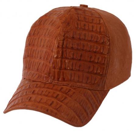 a3100ca86 Product# PN_R62 Genuine Ostrich Alligator skin Exotic Skin Baseball Cap  Cognac