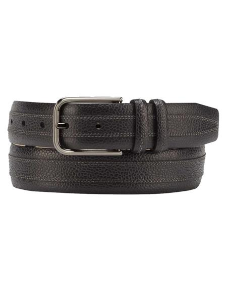 Product# JA286 Mezlan Brand Men's Genuine Calfskin Black Skin Belt