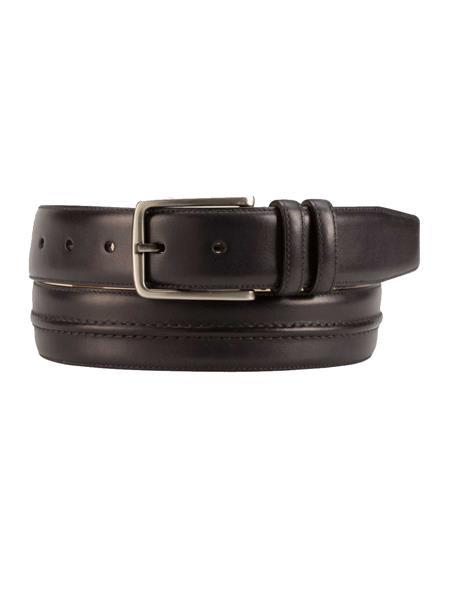 Product# JA261 Mezlan Brand Men's Genuine Calfskin Graphite Skin Belt