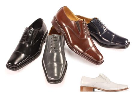 Product#JR6739 Genuine Leather Dress Shoes for Online Black, Brown, Navy & Wine