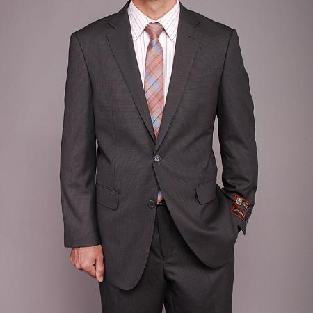 Gray Houndstooth 2-button Suit