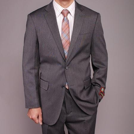Gray Teakweave 2-button Suit