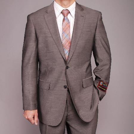 Gray patterned 2-button Suit