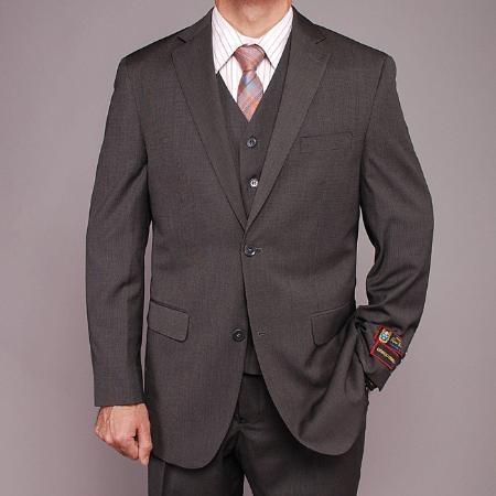 Product# JK9994 Gray Teakweave 2-button Vested Suit