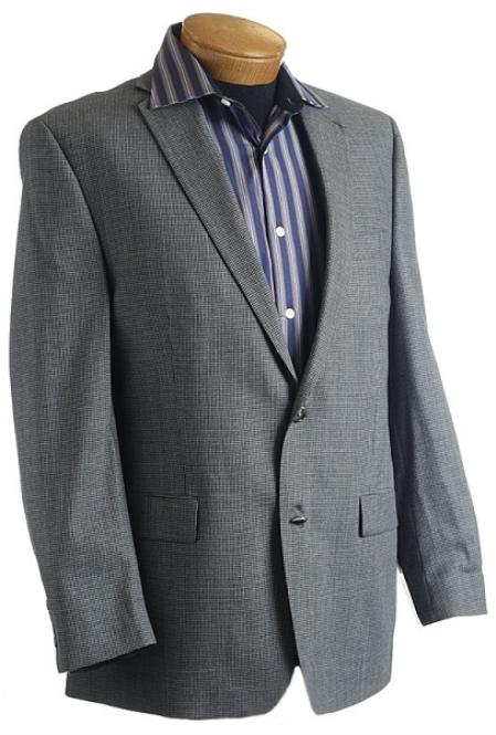 Gray Designer Classic Tweed houndstooth Sports Jacket