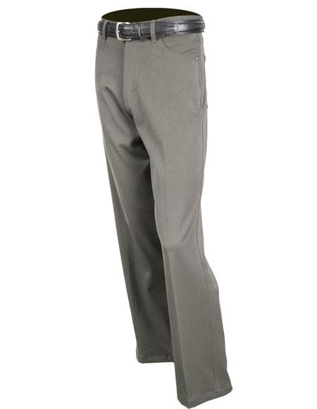 Mens Gray Solid Pattern
