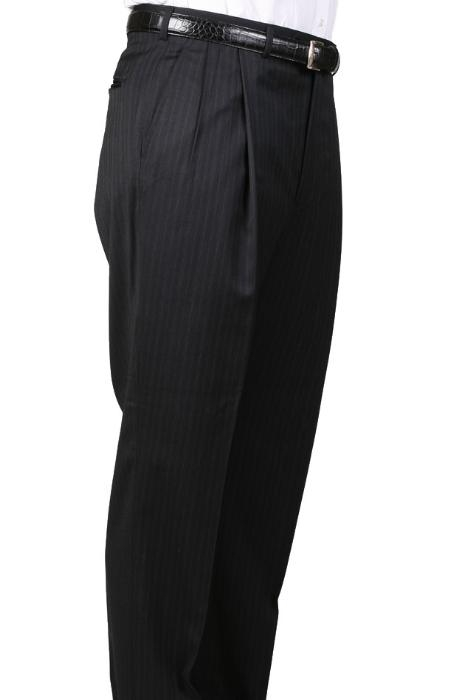 Gray Parker Pleated Slacks