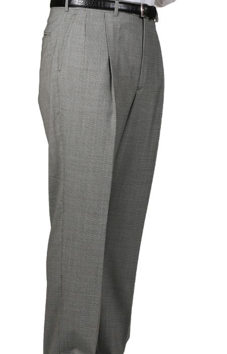 Black/White Somerset Pleated Slacks