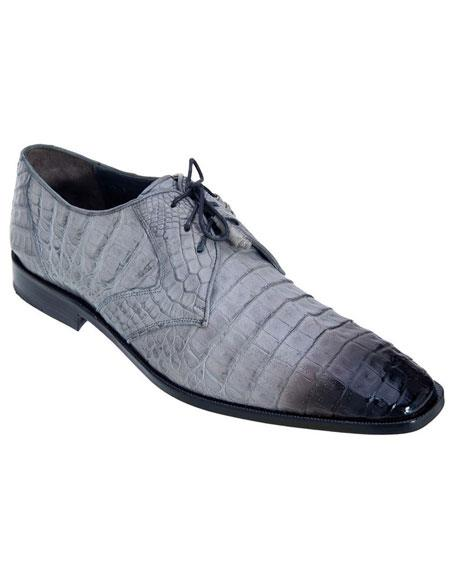 Mens Gray Genuine Crocodile