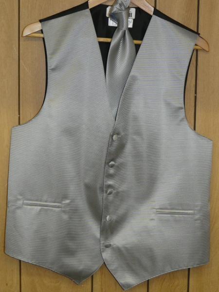gray Vest & Tie